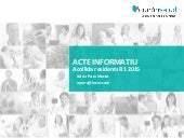 Acto informativo acogida R1 2015
