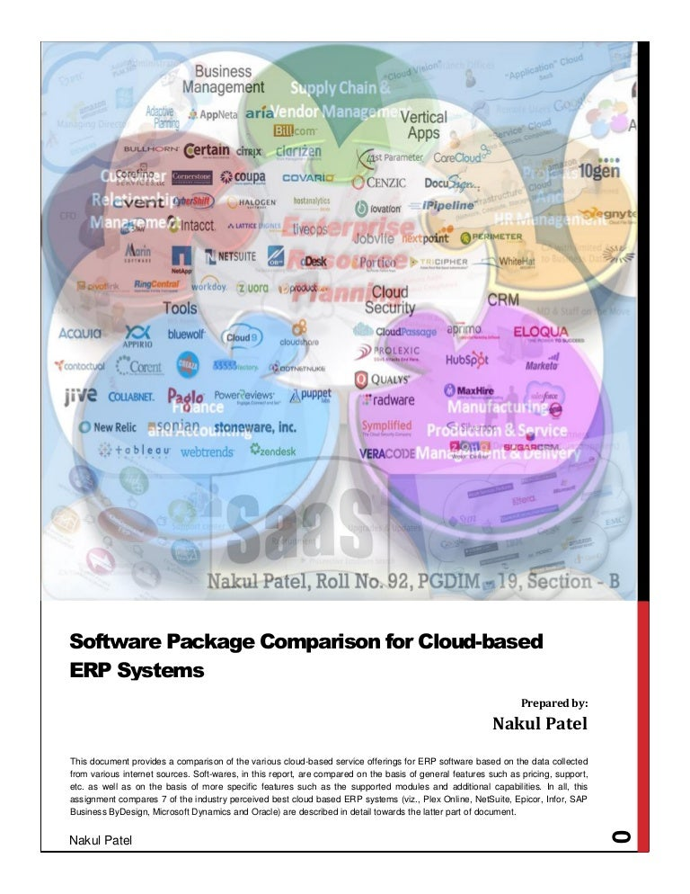 a comparison of cloud based erp systems