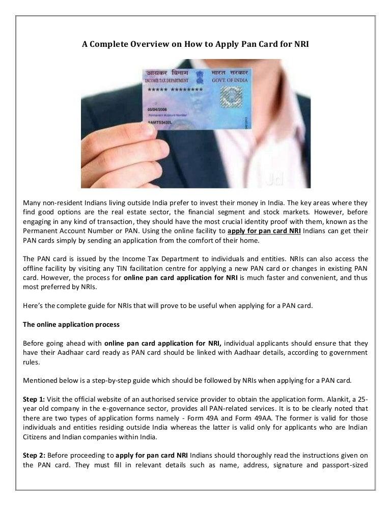 Pan Card Correction Form