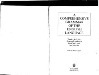 A comprehensive grammar of the english language quirk greenbaum leech svartvik