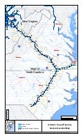 Map of Route for Dominion Atlantic Coast Pipeline (Natural Gas Pipeline)