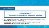 Changing Tack: A Future-Focused ACRL Research Agenda