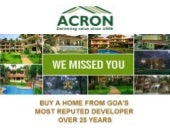 Acron Homes Goa at India Property Fest Abu Dhabi, UAE