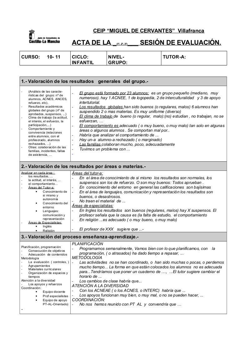 Acta de-la-sesion-de-evaluacion-infantil-ejemplo
