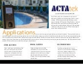 Access Control at Pool Gates and Club Houses