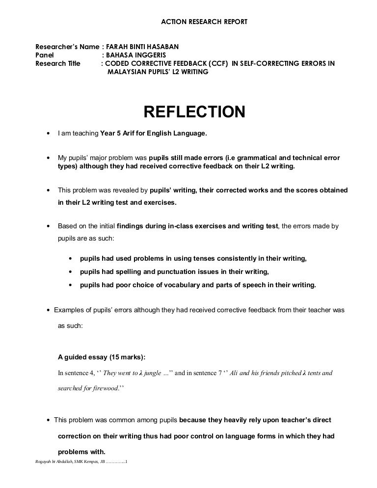 self reflection essay format Reflective essay