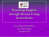 Teaching English through Drama using ActionSacks