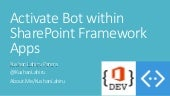 Activate bots within SharePoint Framework