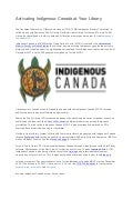 Activating indigenous canada at your library
