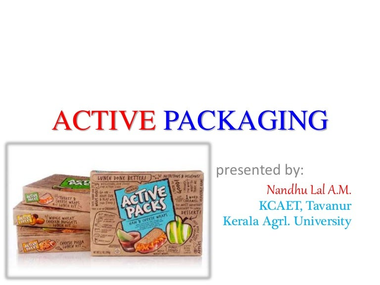 active packaging A new antioxidant active packaging material for food has been designed and  developed, consisting of a polypropylene film in which some natural antioxidants .