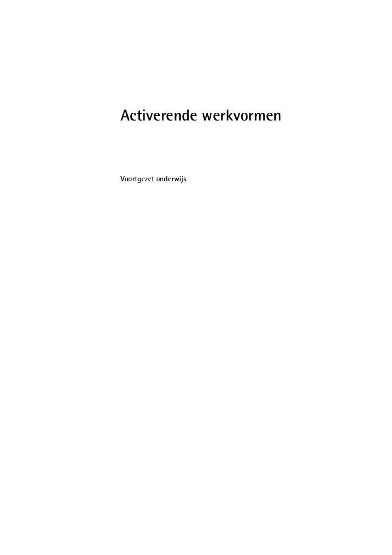 Bekend activerende-werkvormen-  &SS04