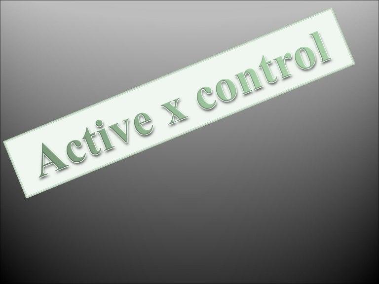Active x control