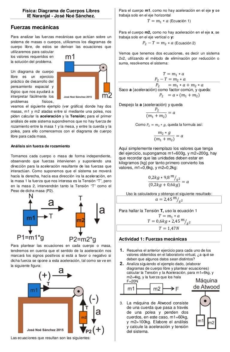 Actividad 1 Diagrama De Cuerpo Libre Y Calculo
