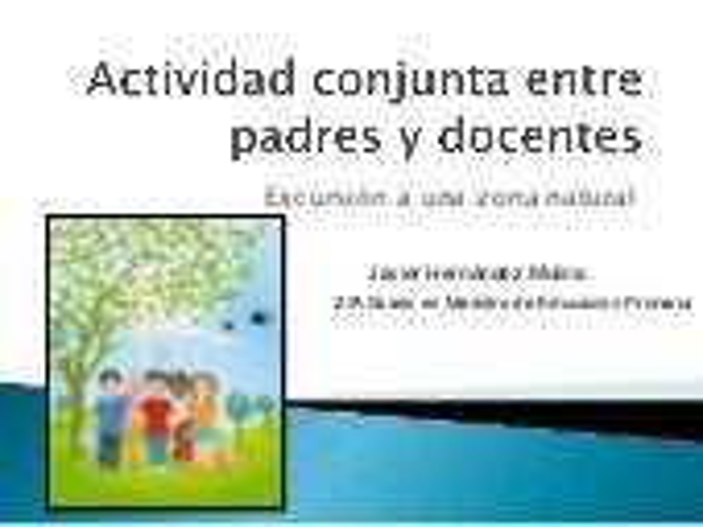 Actividad conjunta entre padres y docentes