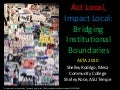 Act local, impact local ppt