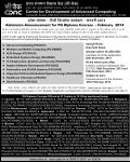 CDAC Common Admission Test (C-CAT) Feb 2014
