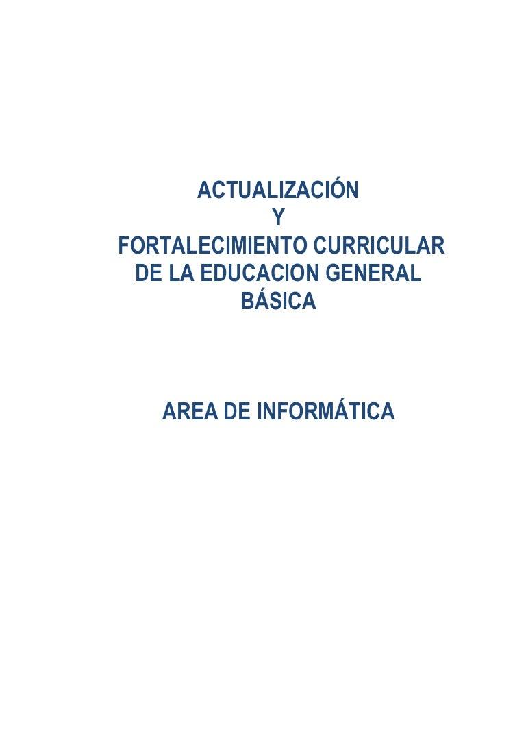 Actualización curricular informática