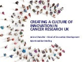 Creating a culture for innovation at Cancer Research UK