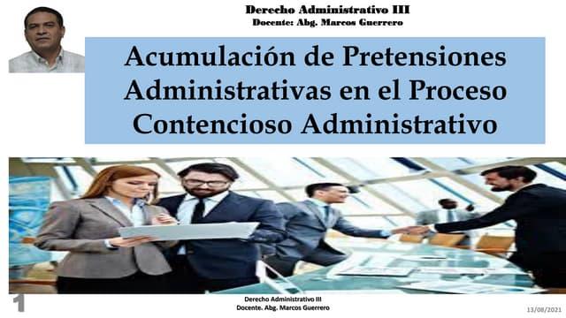Acumulación de   pretensiones administrativas