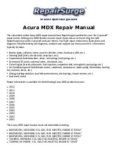 2010 acura mdx repair manual online rh slideshare net 2006 Acura TL Type S 2006 Acura TL Warranty