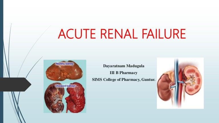 Acute Renal Failure Or Acute Kidney Injury