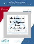 Actionable Intelligence From Unstructured Data using MDA