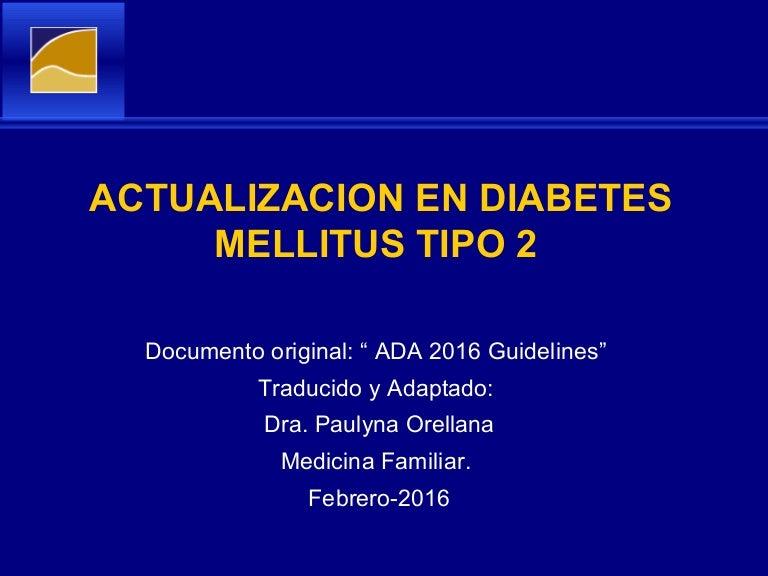 Criterios de diagnóstico de diabetes tipo 2 Adam