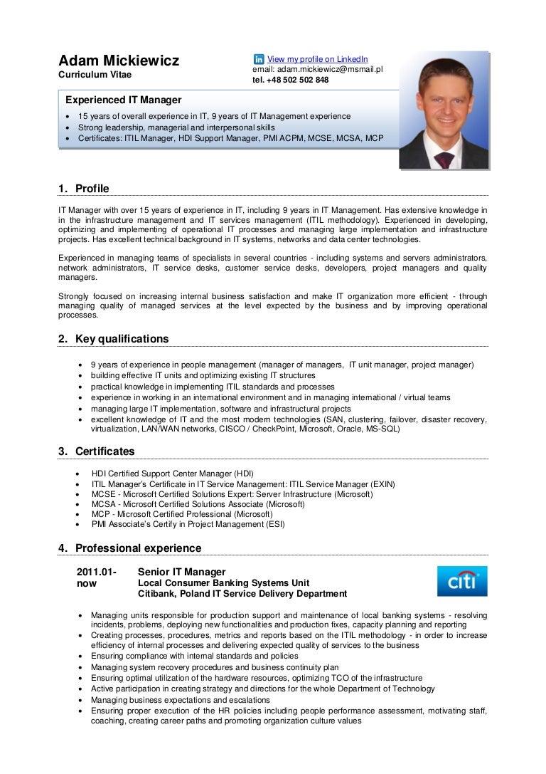 resume english version