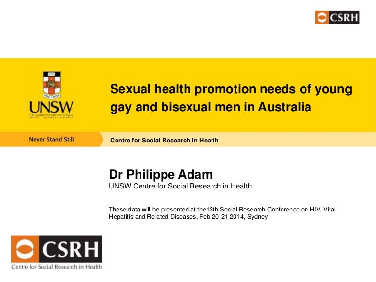 Sexual health promotion needs of young gay and bisexual men in Austra…