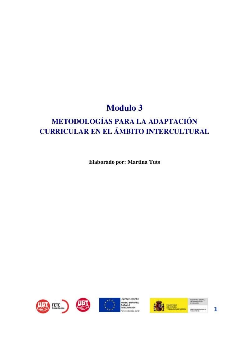 Adaptacion curricular intercultural.
