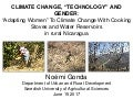"Climate change, 'technology' and gender: ""Adapting women"" to climate change with cooking stoves and water reservoirs in rural Nicaragua"