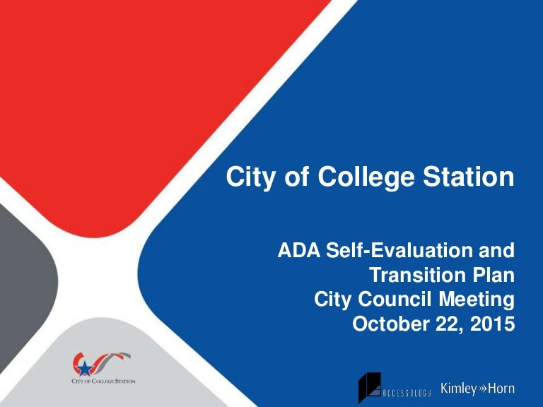 Ada SelfEvaluation And Transition Plan