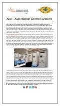 ADB - Automation Control Systems