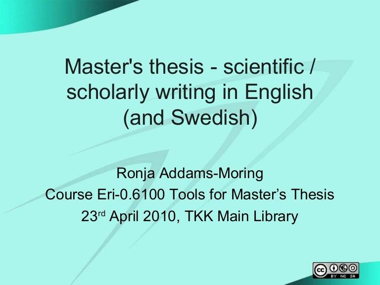 Master thesis tkk