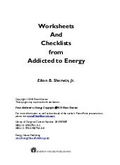 Addicted to Energy Worksheets