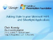 Adding Style To Your Microsoft Wpf And Silverlight Applications