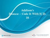Addison's disease  code it with icd-10