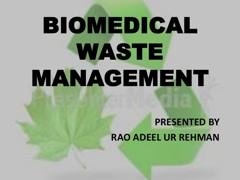 biomedical waste thesis Pdf | biomedical waste management is receiving greater attention due to recent regulations of the biomedical wastes(management & handling rules, 1998) inadequate.