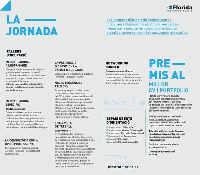 MOSTRA'T: Grau en ADE, Grau en Turisme i Grau en Finances i Comptabilitat