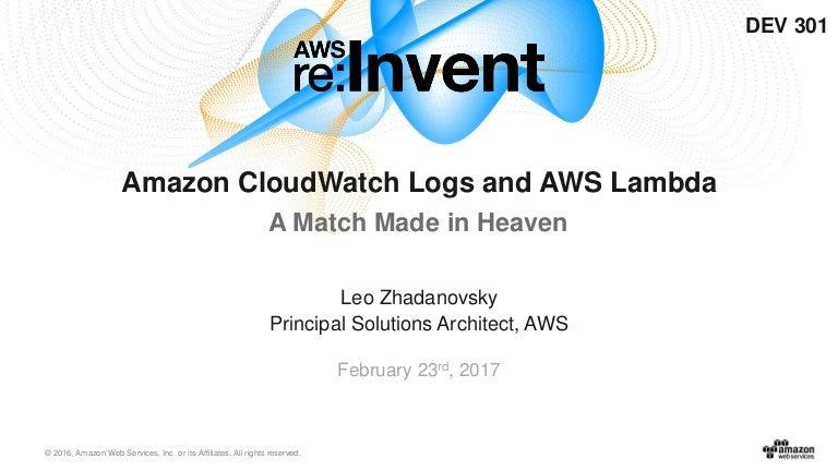 Amazon CloudWatch Logs and AWS Lambda