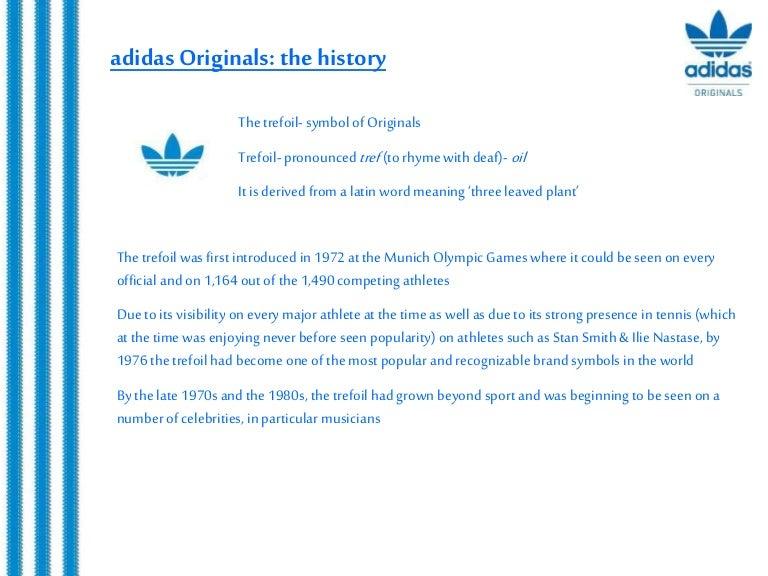 Adidas Originals Brand Story
