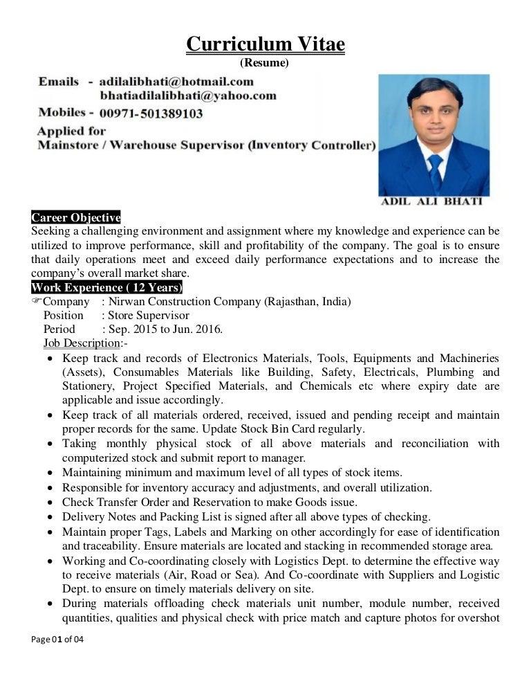 warehouse coordinator resume warehouse manager resume samples