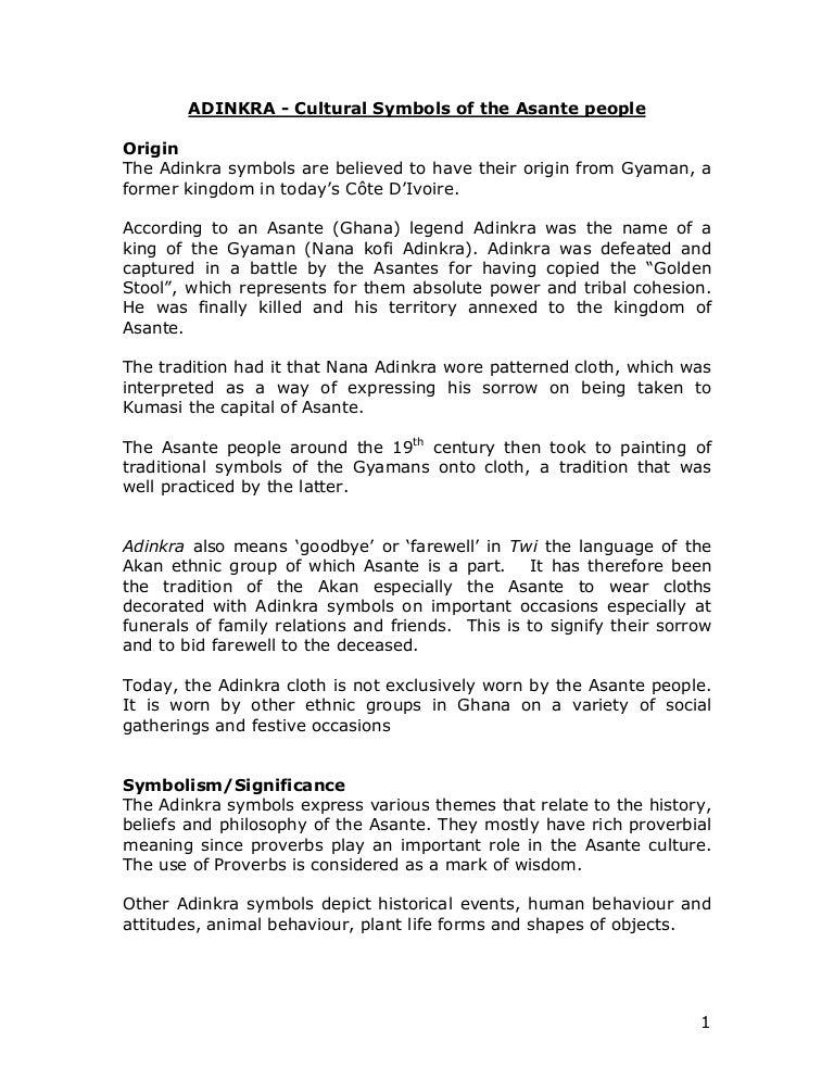 Adinkra Cultural Symbols Of The Asante People