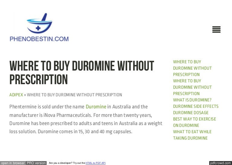 how to effectively lose weight with duromine