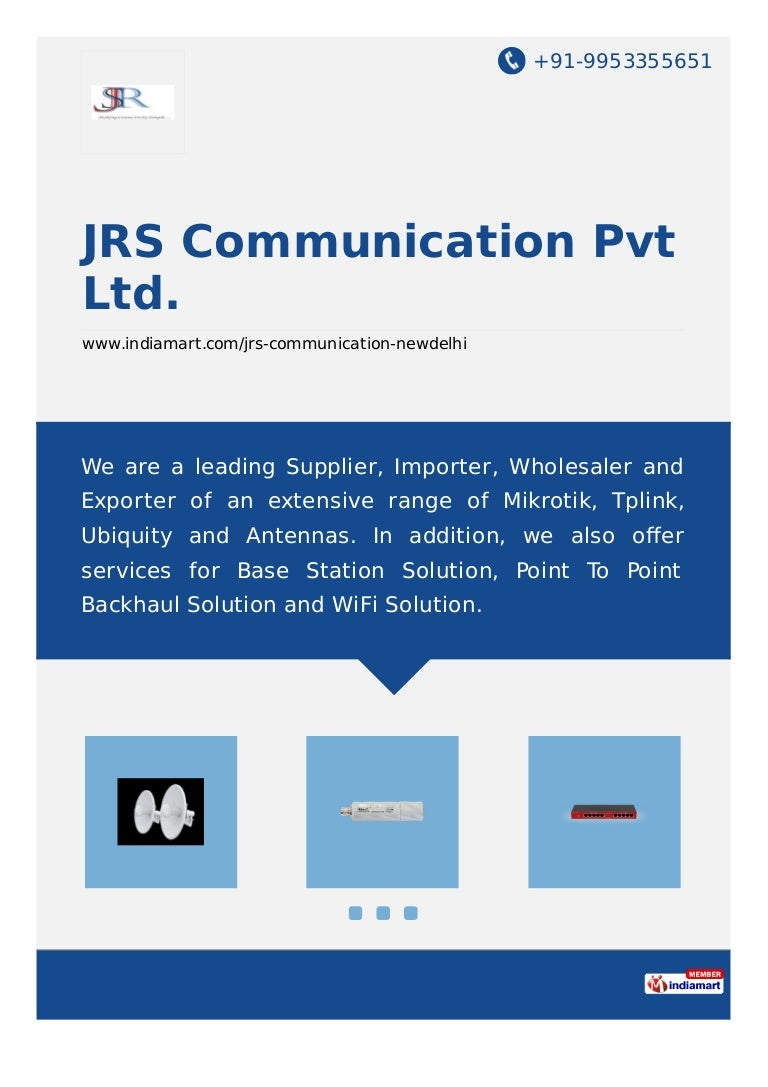 Jrs Communication Pvt Ltd New Delhi Wireless Routers And Accessories Embedded Client Sxtg 2hnd 24ghz Mimo