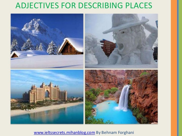 list of descriptive words for places