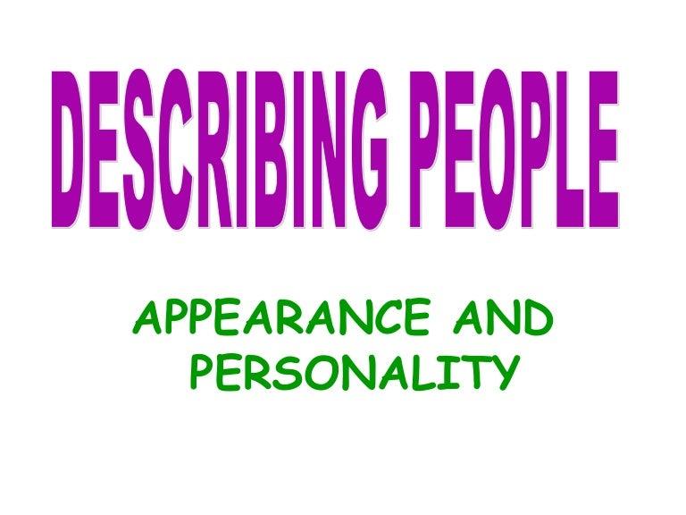 general appearance describing words