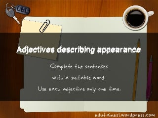 Adjectives Describing Appearance