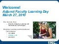 Adjunct Faculty Learning Day - GRCC