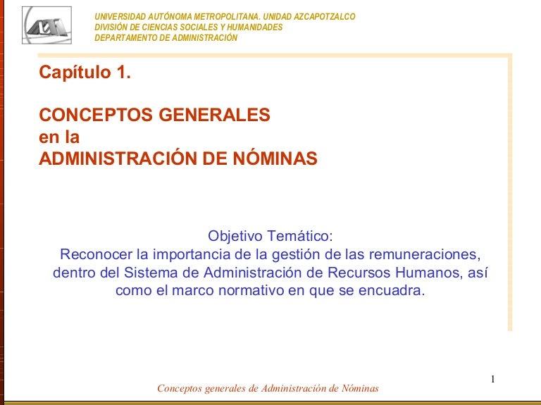 ADMINISTRACION DE NOMINAS